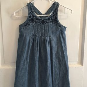 GIRLS Old Navy Blue Embroidered Sun Dress SIZE M